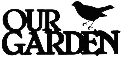 Our Garden Scrapbooking Laser Cut Title with Bird