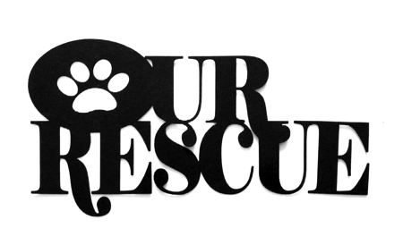 Our Rescue Scrapbooking Laser Cut Title with Paw