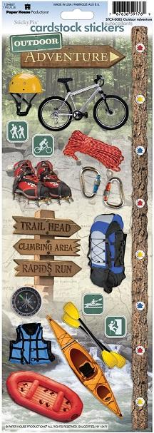 Outdoor Adventure Cardstock Scrapbooking Stickers