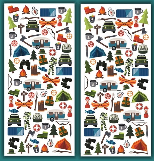 Outdoors Micro Scrapbooking Stickers