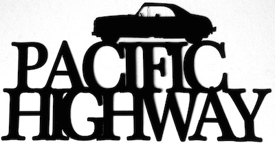 Pacific Highway Scrapbooking Laser Cut Title with Car