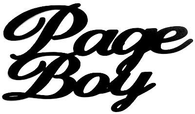 Page Boy Scrapbooking Laser Cut Title