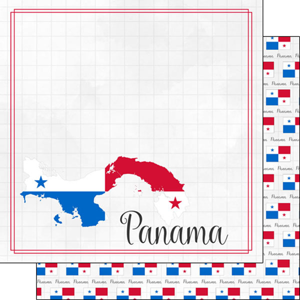 Panama 12x12 Double Sided Scrapbooking Paper