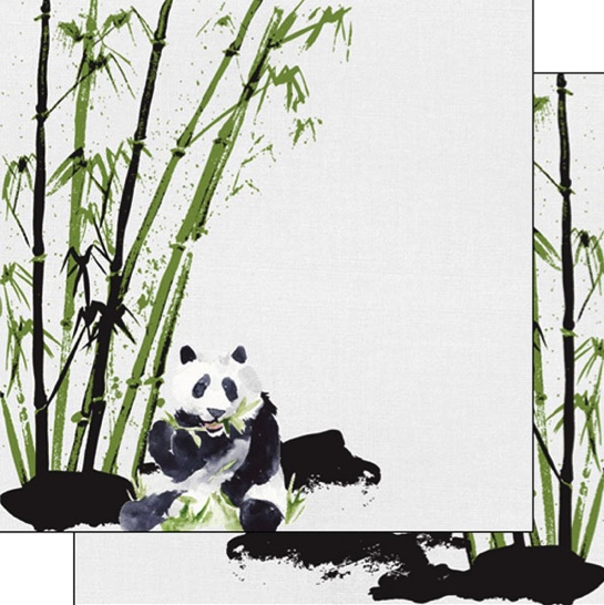 Panda Safari 12x12 Double Sided Scrapbooking Paper