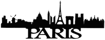 Paris Scrapbooking Laser Cut Title with Skyline