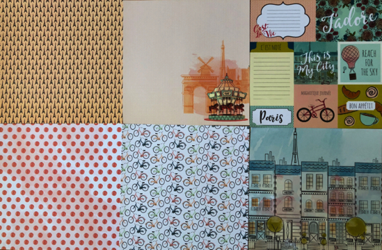 Paris Scrapbooking 12x12 Papers - 22 sheets