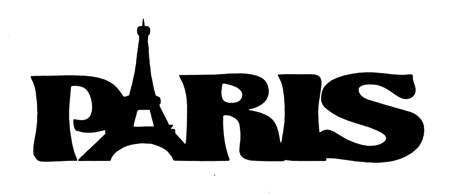Paris Scrapbooking Laser Cut Title with Eiffel Tower