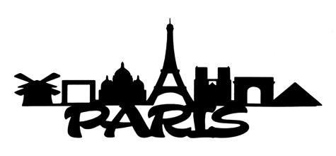 Paris Scrapbooking Laser Cut Title with Skyline