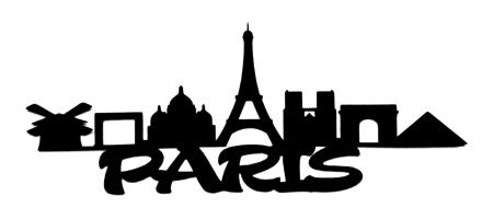 Paris Scrapbooking Laser Cut Title with Buildings