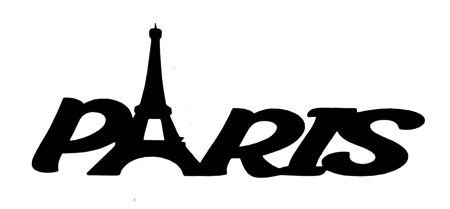 Paris Scrapbooking Laser Cut Title with Eiffel Tower