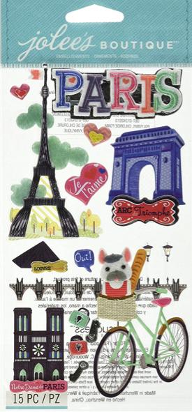Paris Jolees 3D Large Scrapbooking Stickers