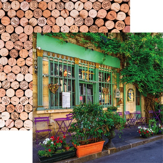 Parisian Cafe 12x12 Double Sided Scrapbooking Paper