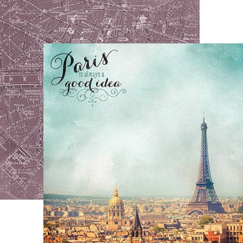 Paris is Always 12x12 Double Sided Scrapbooking Cardstock