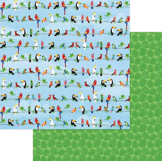 Parrot Bay Double Sided 12x12 Scrapbooking Paper