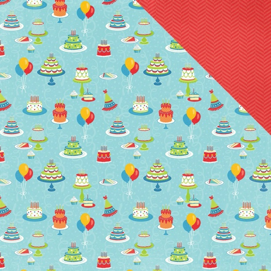 Cakes Double Sided 12x12 Scrapbooking Paper