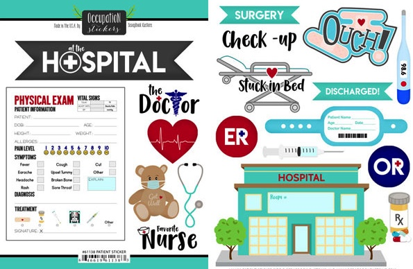 Hospital Scrapbooking Stickers