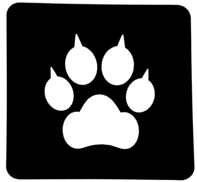 Paw Print Silhouette Scrapbooking Laser Cut Shape