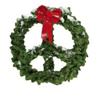Christmas Peace Wreath Die Cut Scrapbooking Sticker
