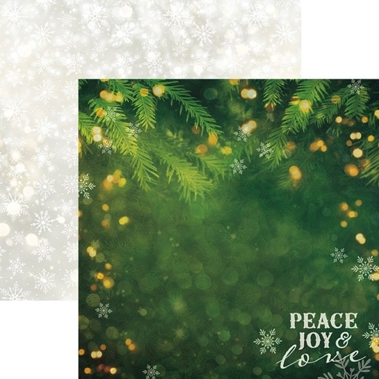 Peace and Joy Double Sided 12x12 Scrapbooking Paper