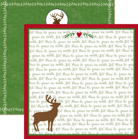 Peace on Earth 12x12 Double Sided Scrapbooking Paper