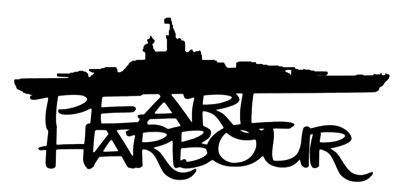 Pearl Harbour Scrapbooking Laser Cut Title with Ship
