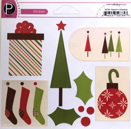 Seasons Greetings Cardstock Scrapbooking Stickers