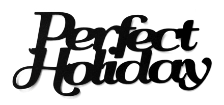 Perfect Holiday Scrapbooking Laser Cut Title