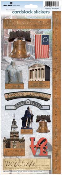 Philadelphia Cardstock Scrapbooking Stickers