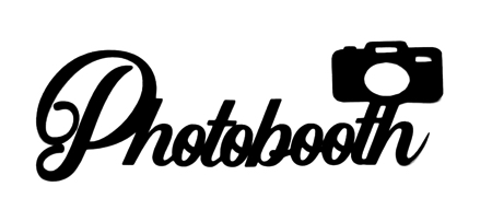 Photobooth Scrapbooking Laser Cut Title with Camera