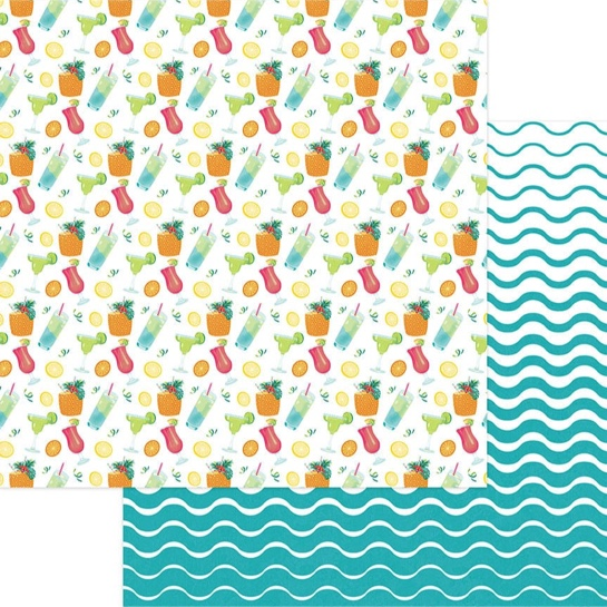 Pina Colada 12x12 Double Sided Scrapbooking Paper