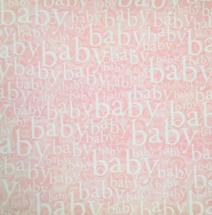 Pink Baby 12x12 Scrapbooking Paper