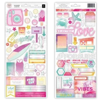 Summer Lights Cardstock Scrapbooking Stickers