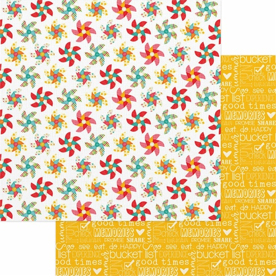 Pinwheels 12x12 Double Sided Scrapbooking Paper