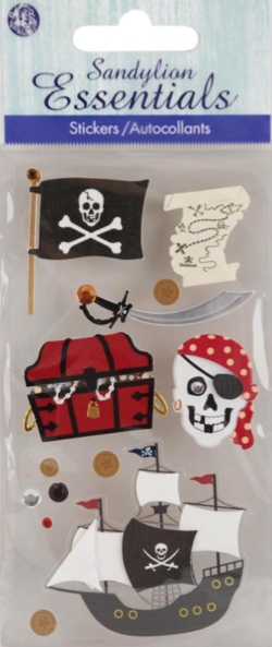 Pirate 3D Handmade Essentials Scrapbooking Stickers