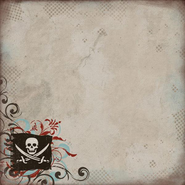 Pirate Life 12x12 Scrapbooking Paper