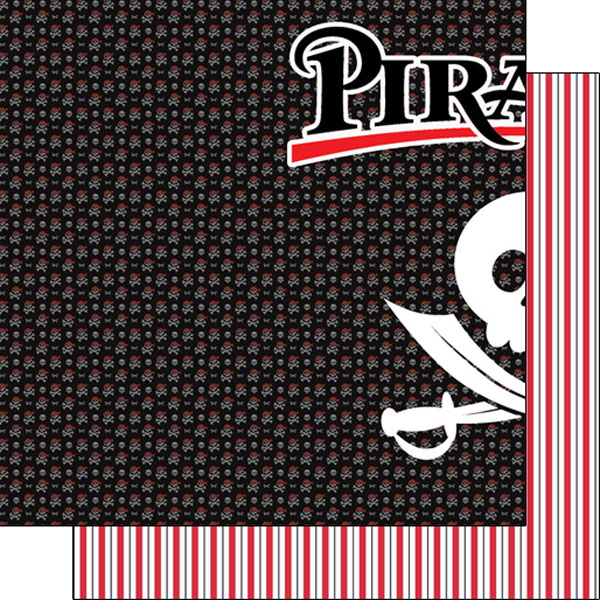 Pirates Left 12x12 Double Sided Scrapbooking Paper