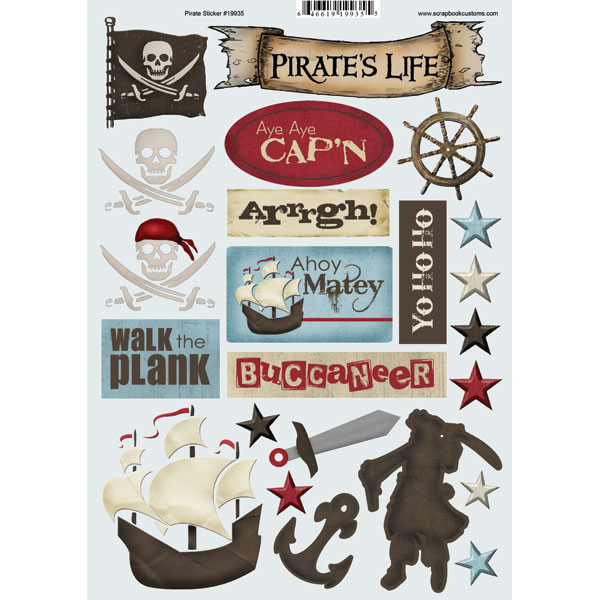 Pirate's Life Scrapbooking Stickers