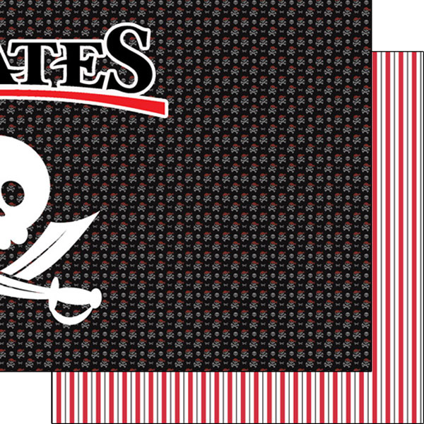 Pirates Right 12x12 Double Sided Scrapbooking Paper
