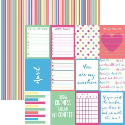 Plan it April 12x12 Double Sided Scrapbooking Paper
