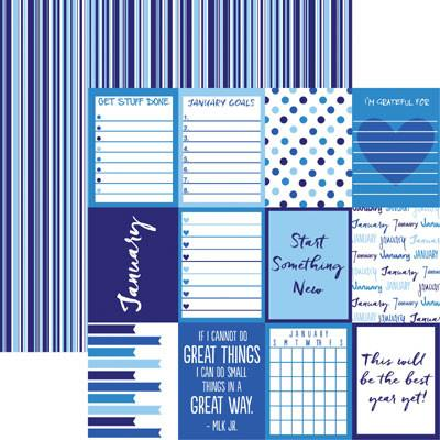 Plan it January 12x12 Double Sided Scrapbooking Paper