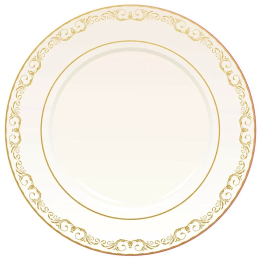 Gold Foiled Dinner Plate 12x12 Die Cut Scrapbooking Paper