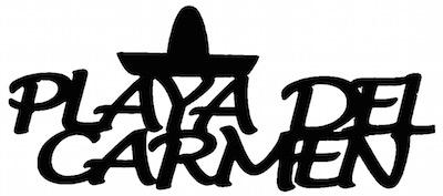 Playa Del Carmen Scrapbooking Laser Cut Title with Hat