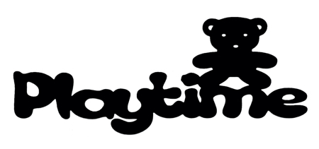 Playtime Scrapbooking Laser Cut Title with Teddy Bear