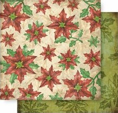 Poinsettia 12x12 Double Sided Glittered Scrapbooking Cardstock