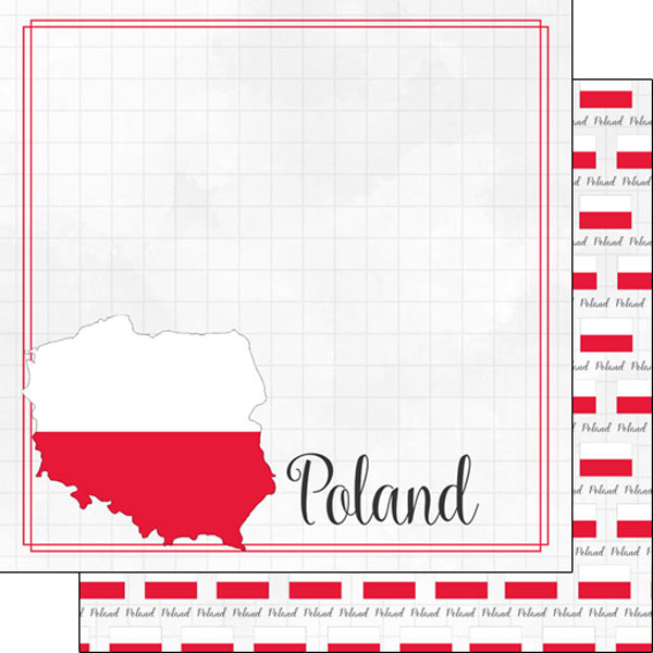 Poland 12x12 Double Sided Scrapbooking Paper