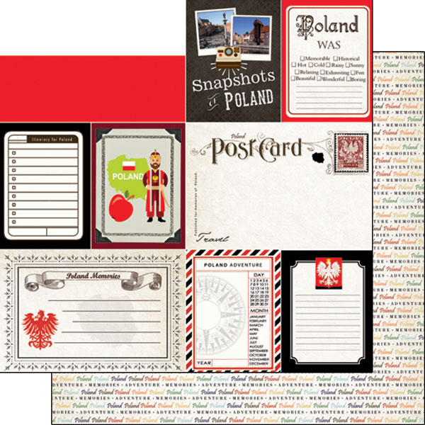 Poland Journal 12x12 Double Sided Scrapbooking Paper
