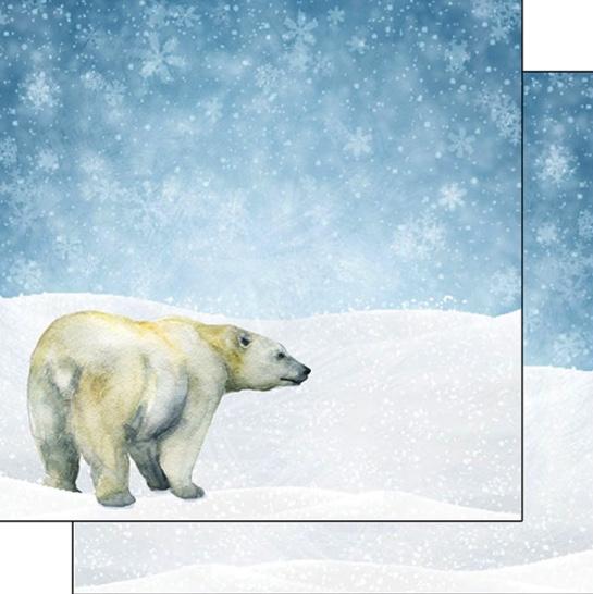 Polar Bear Safari 12x12 Double Sided Scrapbooking Paper