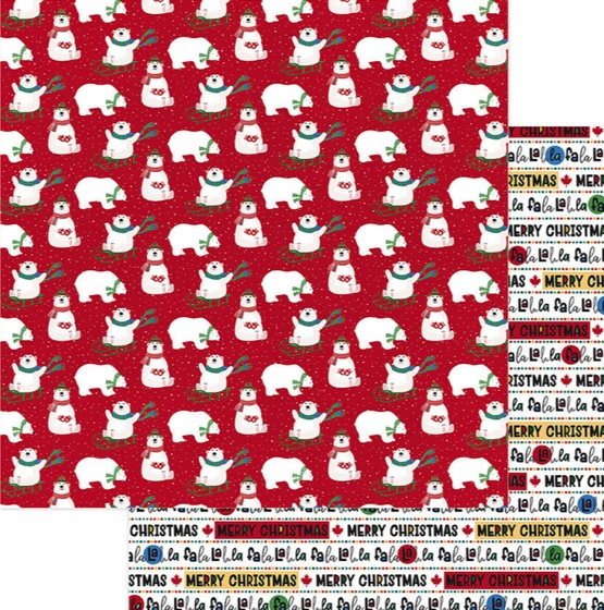 Polar Games Double Sided 12x12 Scrapbooking Paper