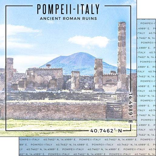 Pompeii 12x12 Double Sided Scrapbooking Paper