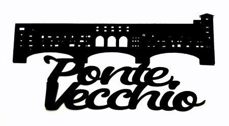 Ponte Vecchio Scrapbooking Laser Cut Title with Bridge